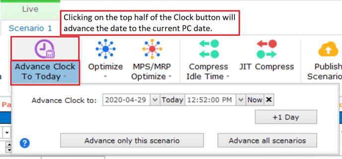 advacne the clock